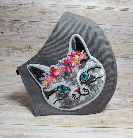 Cat Mask Made in USA, Face Mask