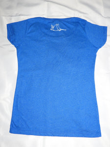 """Oh Minke"" (whales)- Ladies' Scoop Neck Blend Tee"