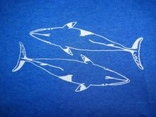 "Load image into Gallery viewer, ""Oh Minke"" (whales)- Ladies' Scoop Neck Blend Tee"