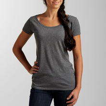 "Load image into Gallery viewer, ""Whale Tails"" - Ladies' Scoop Neck Blend Tee"