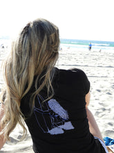 "Load image into Gallery viewer, ""Surfer Girl"" - Ladies' Scoop Neck Blend Tee"
