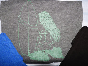 """Surfer Girl"" - Ladies' Scoop Neck Blend Tee"