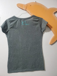 """Whale Tails"" - Ladies' Scoop Neck Blend Tee"