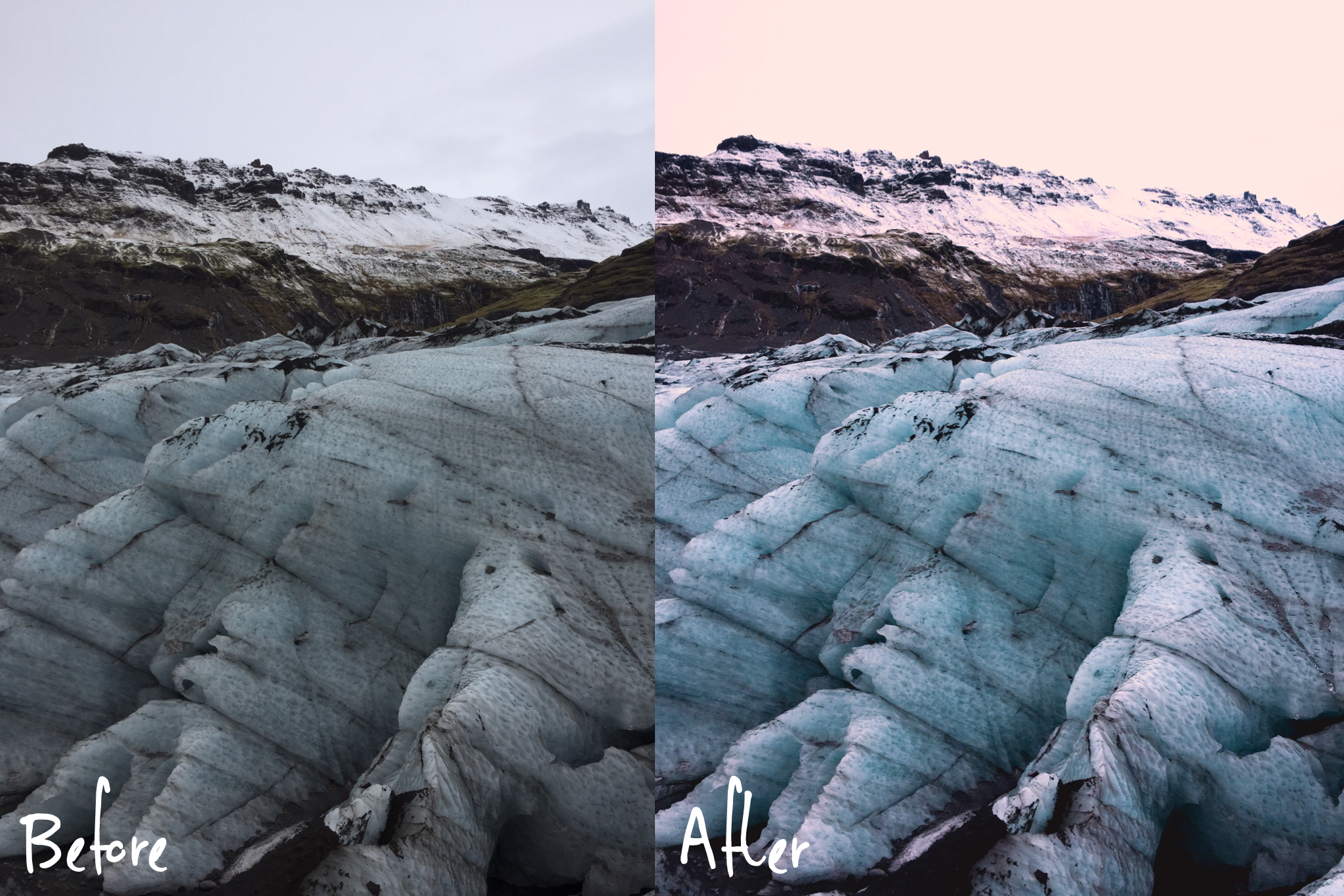 Icelandic Fire & Ice Collection - Lightroom Presets Mobile - Vanilla Sky Dreaming