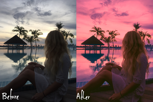 The Maldives Pastel Collection - Lightroom Presets Mobile - Vanilla Sky Dreaming