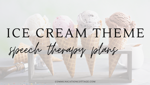 Ice Cream Speech Therapy Plans