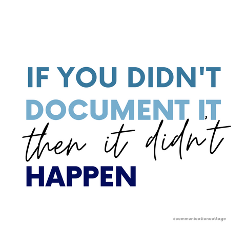 if you didn't document it then it didn't happen graphic
