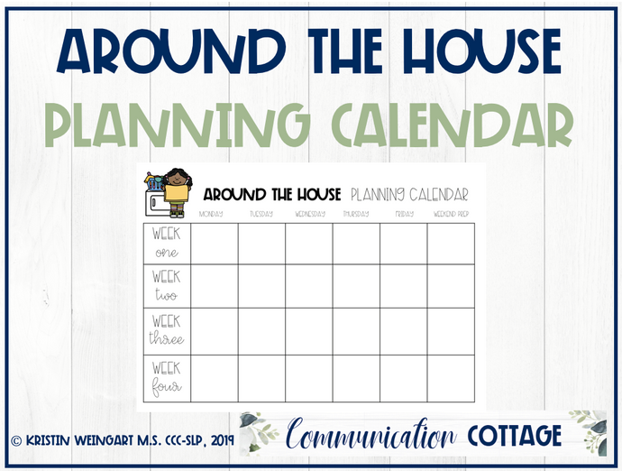 Around the House Planning Calendar