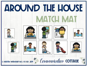 Around the House Match Mat