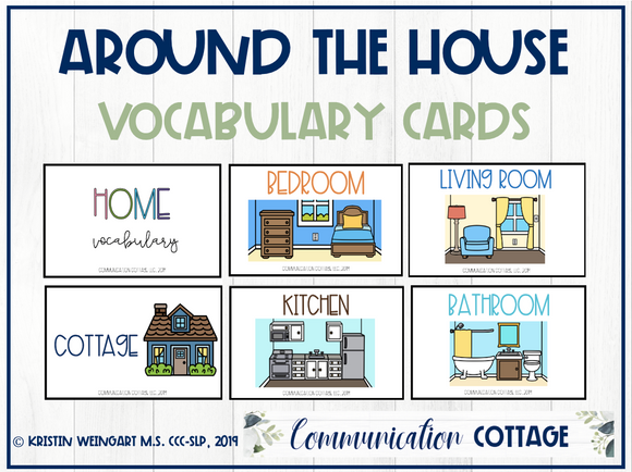 Around the House Vocabulary Cards