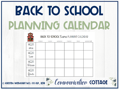 Back to School Planning Calendar (PDF)