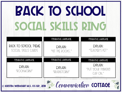 Back to School: Social Skills Cards (PDF)