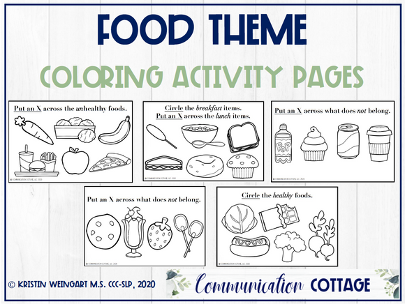 Food Activity Pages