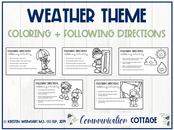 Weather Coloring + Following Directions