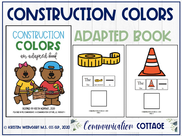 Construction Colors: Adapted Book
