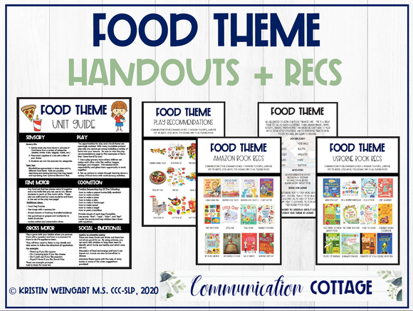 Food Theme Handouts and Recommendations