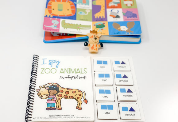 I Spy Zoo Animals: Adapted Book