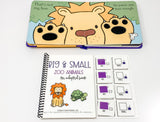 Big and Small Zoo Animals: Adapted Book