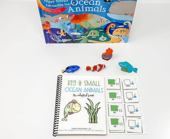 Big and Small Ocean Animals: Adapted Book