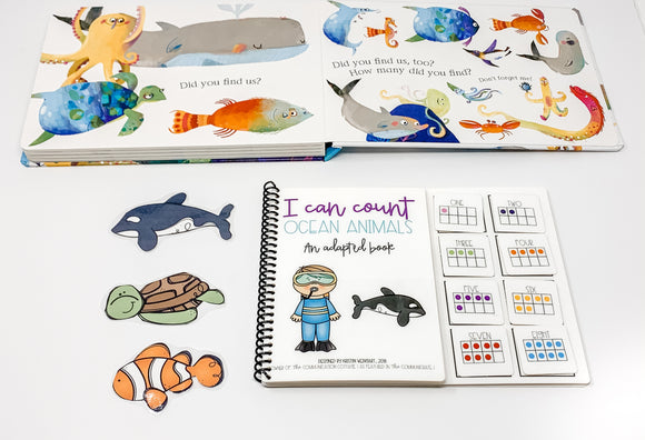 I Can Count Ocean Animals: Adapted Book