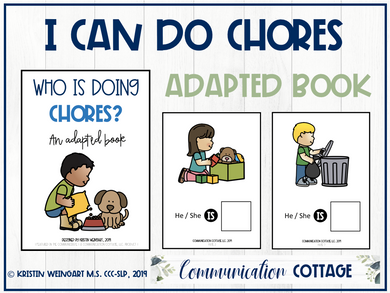 I Can Do Chores Adapted Book