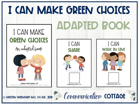 I Can Make Green Choices: Adapted Book