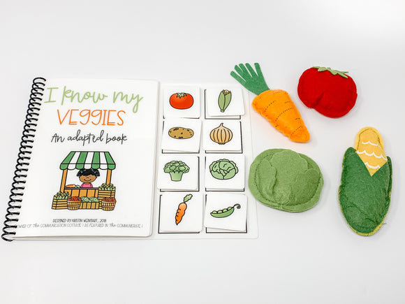 I Know My Veggies: Adapted Book
