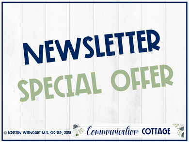 Newsletter Special Offer
