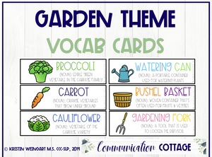 Garden Vocabulary Cards