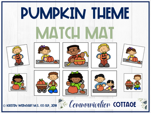Pumpkin Match Mat