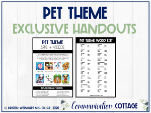 Pet Exclusive Handouts