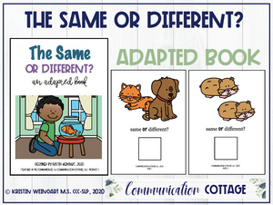 Same or Different: Adapted Book
