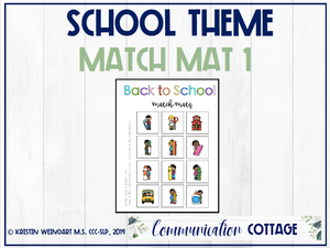 Back to School Match Mat 1