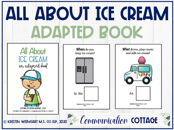 All About Ice Cream: Adapted Book