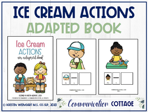 Ice Cream Actions: Adapted Book
