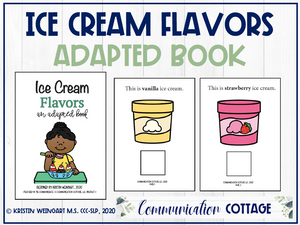 Ice Cream Flavors: Adapted Book