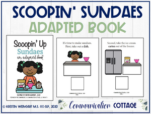 Scoopin' Sundaes: Adapted Book