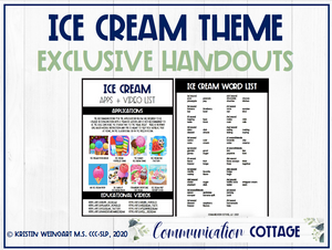 Ice Cream Exclusive Handouts