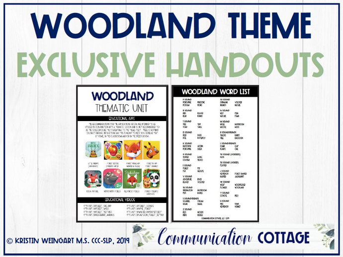 Woodland Exclusive Handouts