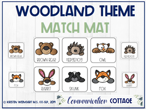 Woodland Match Mat