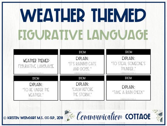 Weather Figurative Language Cards