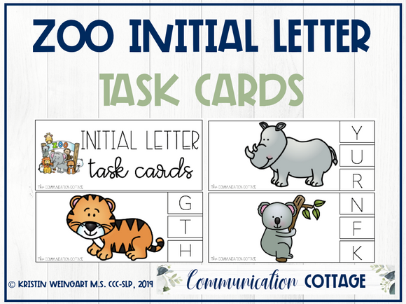Zoo Task Cards