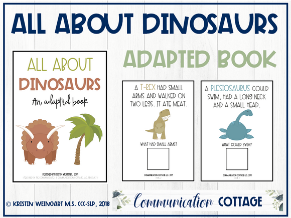 All About Dinosaurs: Adapted Book
