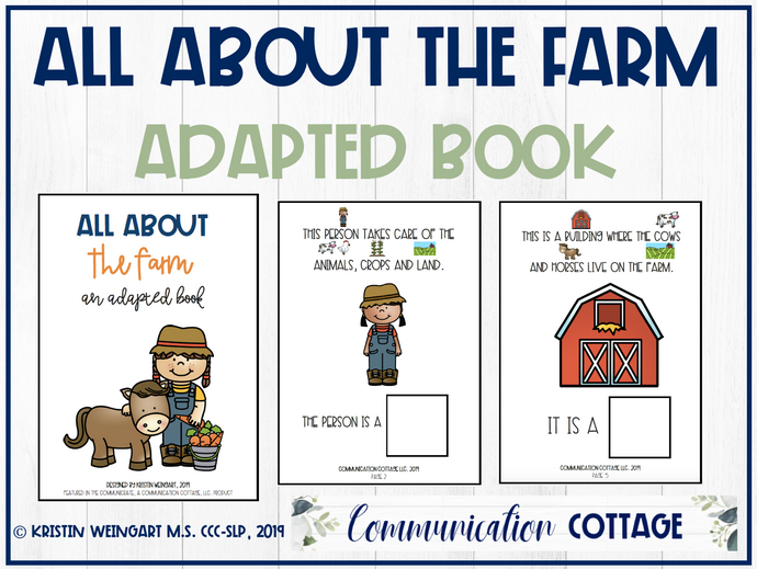 All About The Farm: Adapted Book