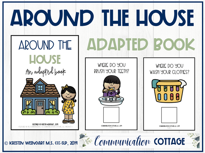 Around the House Adapted Book