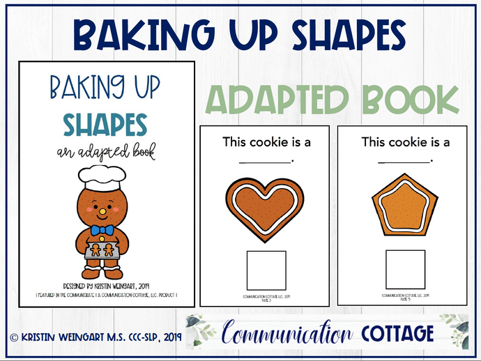 Baking Up Shapes: Adapted Book