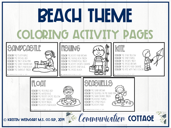 Beach Activity Pages