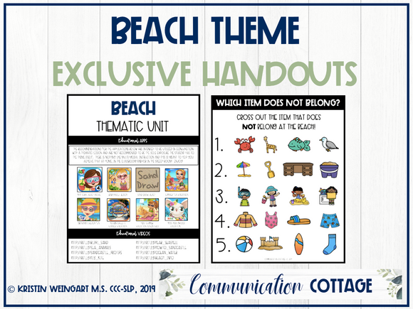 Beach Theme Exclusive Handouts