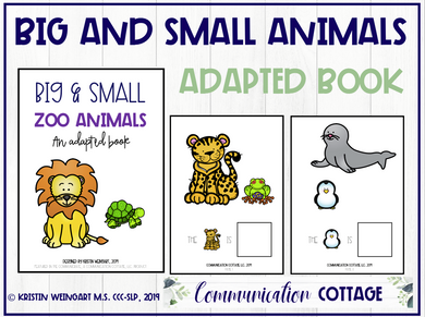 Big and Small Zoo Animals: Adapted Book (PDF)