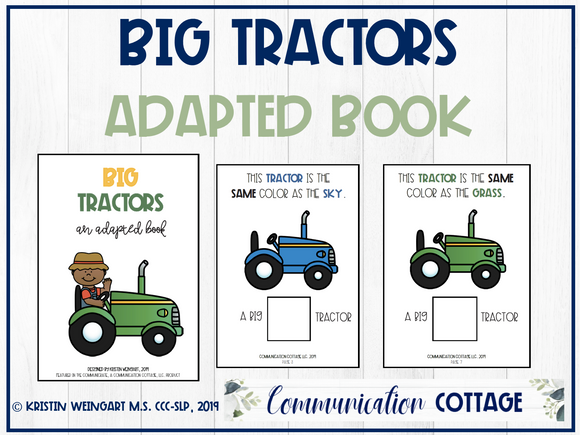Big Tractors: Adapted Book